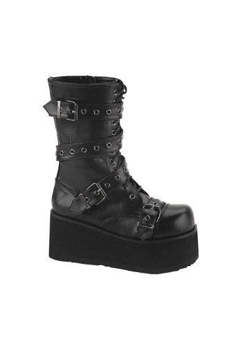Demonia by Pleaser Men's Trashville-205 Buckle Boot,Black PU,13 M US