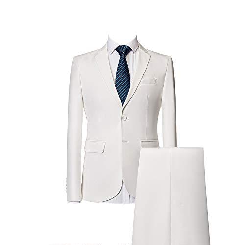 Pulsanti Banchetto Mogu Colori Due Giacca Abito Uomo Pantaloni Bianca 10 XXwEqf