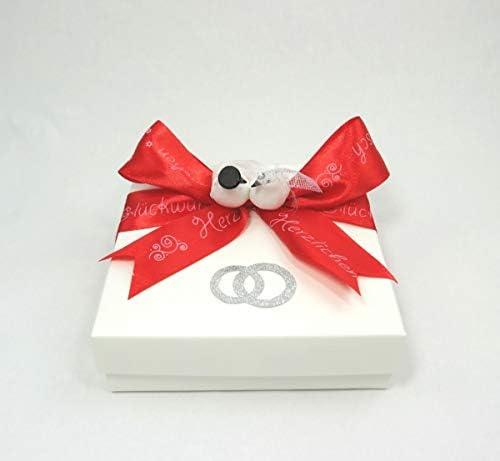 wertheim-deko Caja de Regalo para Dinero, diseño de corazón, Color Rojo: Amazon.es: Juguetes y juegos