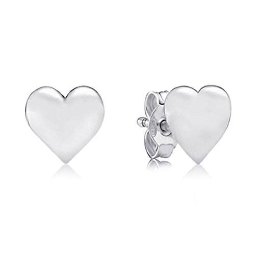 Heart Stud Earrings - Sterling Silver Jewelry by Dayna Designs by Dayna U