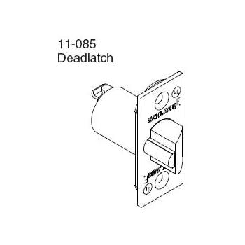 schlage 11 085 2 3 8 inch replacement deadlatch with square corner 1 rh amazon com deadlatch parts diagram Mortise Lock Parts Diagram