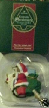 Santa's Club List 1992 Keepsake Ornament Collector's Club Hallmark Keepsake Ornament