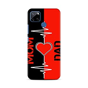Shengshou Mobile Back Cover for Realme C12 Narzo 20 Narzo 30A Mom Dad Maa Papa Love You ABC1296M37547