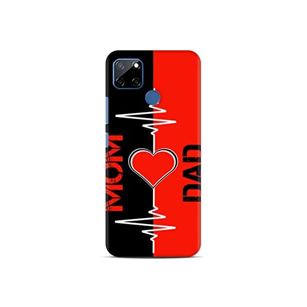 Shengshou Mobile Back Cover for Realme C12 Narzo 20 Narzo 30A Mom Dad Maa Papa Love You ABC1296M37547 2021 July Sublimation Cover Hard Plastic Cover Designed and Printed in India
