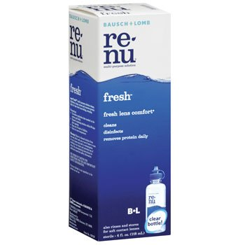 5b850f4d2df Image Unavailable. Image not available for. Color  4oz Bausch   Lomb Renu  Fresh Multi-Purpose Solution