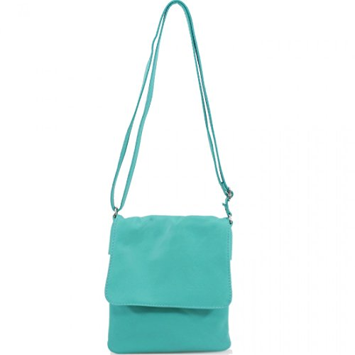 Women Galaxy Mint Girls Small Body Leather Pele Bags Bags Cross Italian Shoulder Ladies Vera Soft Linen U4RfdqnwPR