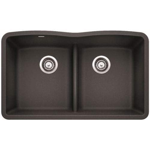 Blanco 442075 Diamond Equal Double Low Divide Undermount, Anthracite