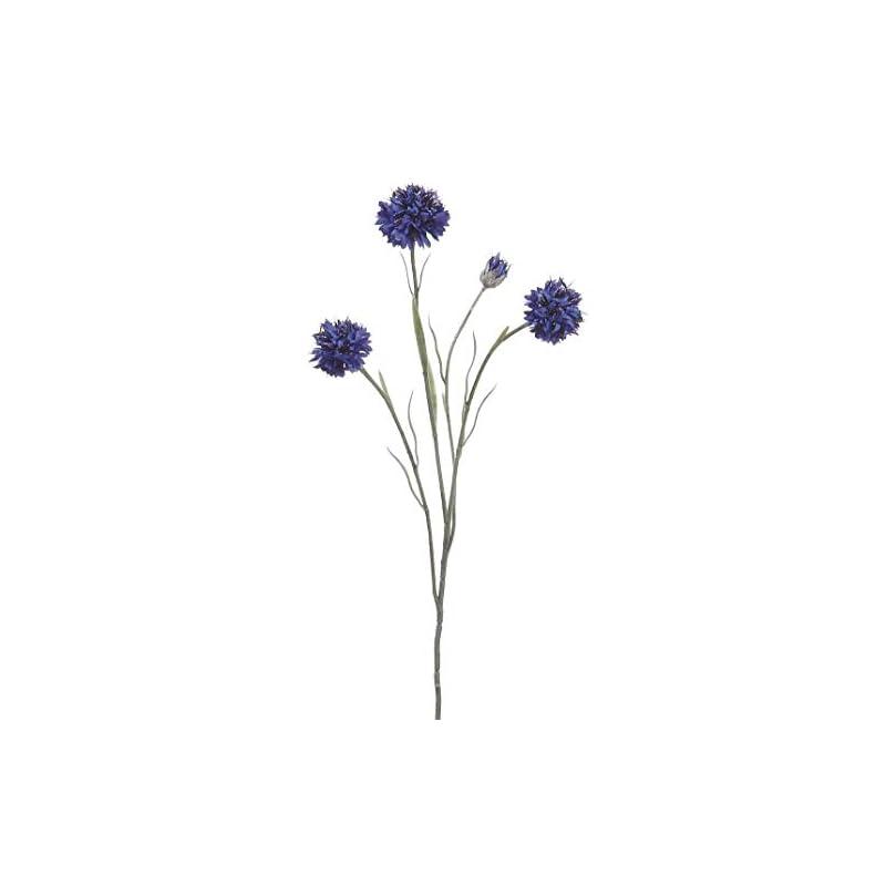 "silk flower arrangements floral home artificial cornflower spray in blue - 24"" tall - set of 2"