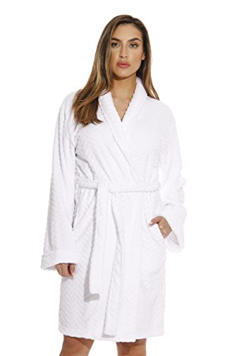 Just Love Kimono Robe Bath Robes for Women 6312-White-XL ()