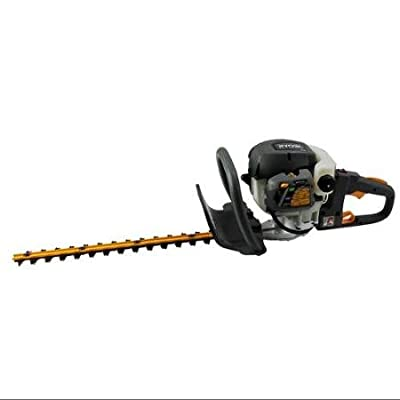 "RYOBI RY39500 22"" 26cc Gas Powered Hedge Trimmer Saw w/ Dual Reciprocating Blade [Refurbished]"