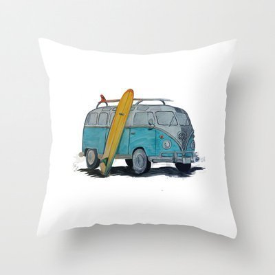 (pendant necklace Vw Bus Cotton Linen Decorative Throw Pillow Case Cushion Cover 1818 Inch a:51)