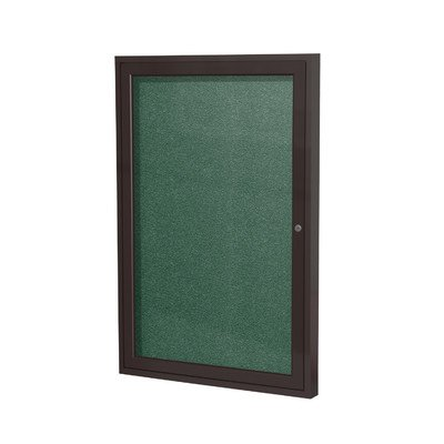 1 Door Outdoor Enclosed Bulletin Board Size: 3' H x 2' W, Frame Finish: Satin, Surface Color: Ivory