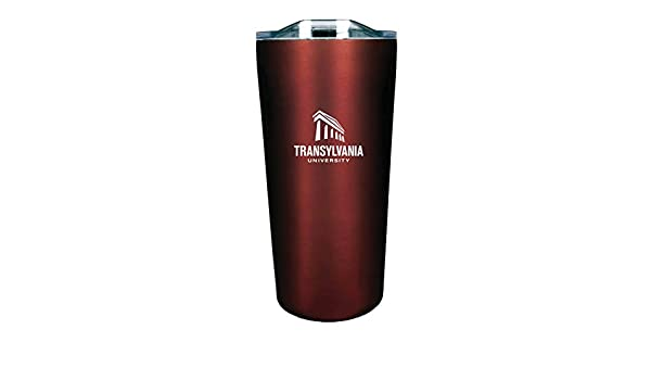 The Fanatic Group Transylvania University Double Walled Soft Touch Tumbler Burgundy Design-1