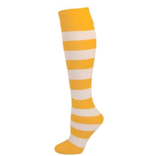 Kids Striped Knee Socks - Gold (Girls Striped Socks)