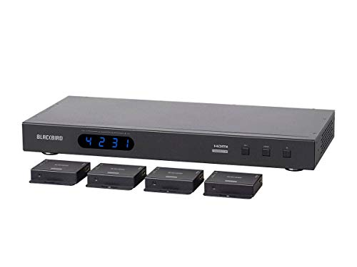 Monoprice Blackbird 4K 4x4 HDMI Matrix Extender with 4 Receivers, PoC, IR, EDID (Hdmi Monoprice Switch)