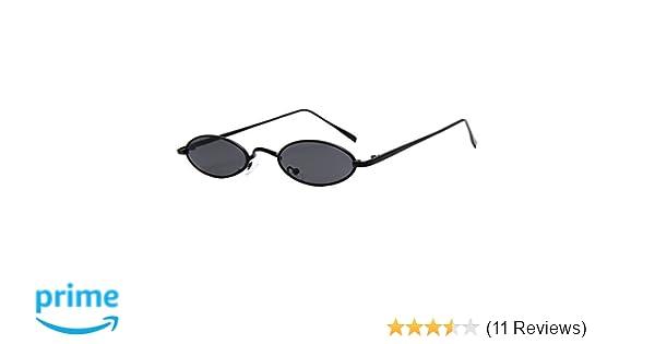fdacdd7d41 Amazon.com  Armear Vintage Retro Slim Oval Sunglasses Women Men Cool 90s  Sunglasses (Black