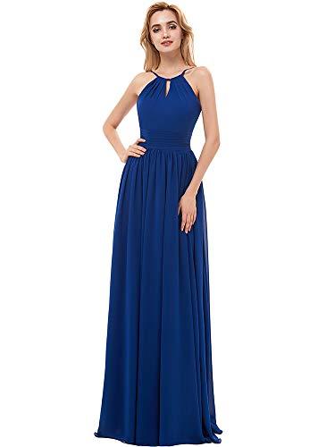 e04a4489b5be Ever Girl Bridesmaid Dresses Long Chiffon Spaghetti Straps Prom Dresses  Women