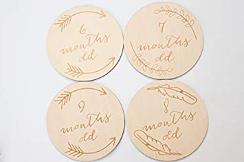 Baby Ages Baby Milestone Discs Baby Discs New Baby Gift   Baby Shower Gift Newborn Gift Baby Milestone Cards
