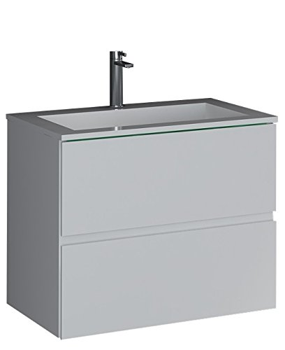 (Control Brand BW3192WHT The Sheper True Solid Surface Vessel Sink with Cabinet)