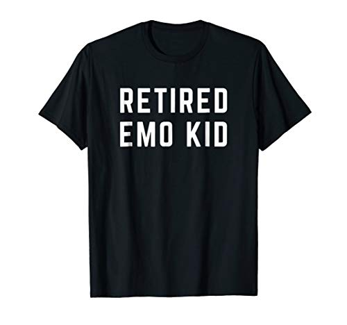 Mens Retired Emo Kid Shirt Small Black