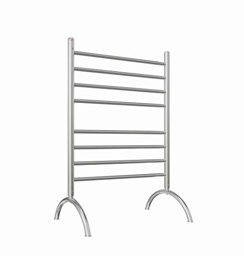 (Ancona Prima Dual 5-Bar Hardwired and Plug-in Electric Brushed Stainless Steel Towel Warmer)