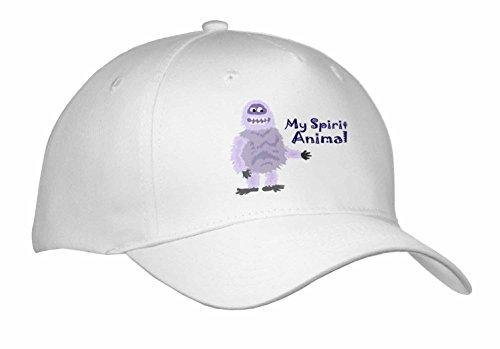 Abominable Snowman Hat (All Smiles Art Funny - Funny Abominable Snowman is My Sprit Animal - Caps - Adult Baseball Cap (cap_252607_1))