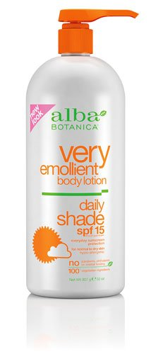 Alba Botanica Very Emollient Natural Body Lotion SPF 15 -- 3