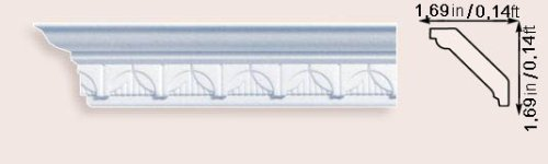 Moulding Tile (Cheap Discount Decorative Crown Molding Styrofoam M-13 Set of 4)