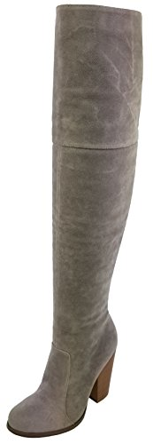 Chase & Chloe Women's Over The Knee Thigh High Suede Chunky Heel Boot (9 M US, - Ladies High Suede Knee Women