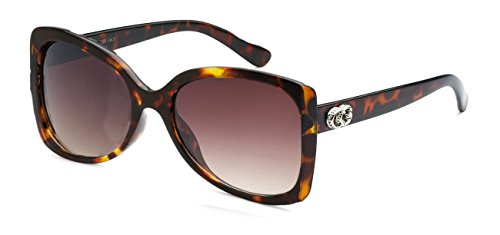 Price comparison product image CG Eyewear Oversize Chunky Square Butterfly Frame Sunglasses,  Tort,  Amber Gradient