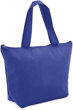 Bolsa isotérmica, Nevera plegable pequeña   cierre con Cremallera, varios Colores   mantiene Frío y Calor   para Playa, Picnic, Camping, Excursión (Azul marino)