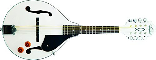 Oscar Schmidt OM10EWH-O-U 8-String A-Style, Electric Mandolin. White Finish from Oscar Schmidt