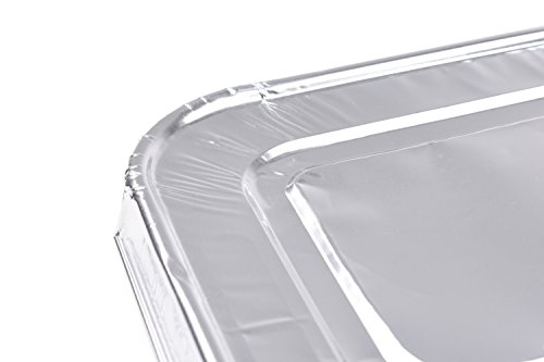 Aluminum Foil Lids for Aluminum Steam Table Pans, Fits Half-Size Pans (1 Bags of 20) by A World Of Deals (Image #3)