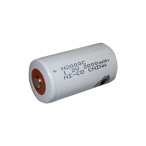 Exell 1.2V 2000mAh NiCD C Rechargeable Battery Button Top Cell Fast USA Ship