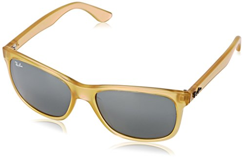 Ray-Ban RB4181 - OPAL YELLOW Frame GREEN MIRROR SILVER Lenses 57mm - Wayfarer Ray Frame Yellow Ban