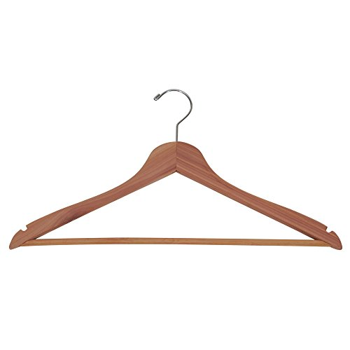 Household Essentials 26140 CedarFresh Red Cedar Wood Clothes Hangers with Fixed Bar and Swivel Hook - Set of 4 by Household Essentials (Image #3)