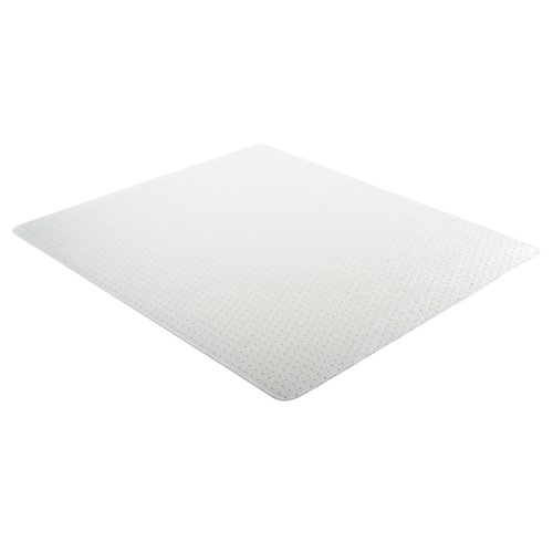 Deflecto DuraMat Clear Chair Mat, Low Pile Carpet Use, Rectangle, Beveled Edge, 45 x 53 Inches (CM13243)