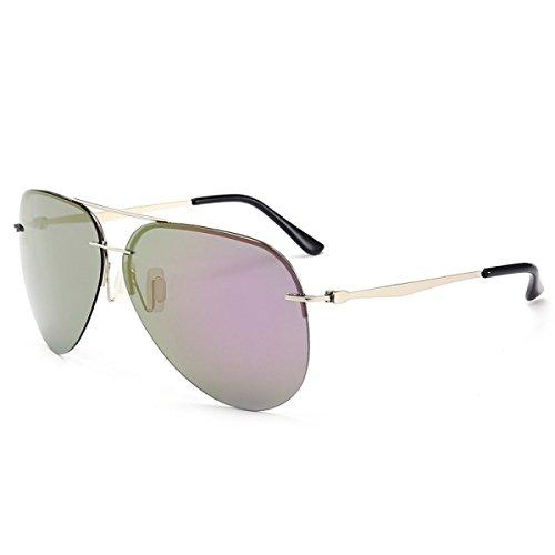 LQQAZY Hombres Polarizadas Blue De Color De Gafas Femenina Película Sin Espejo Gafas Marea Ligero Sol Gafas Clásico Purple Sol Reflectante Marco rrqfSwxZ