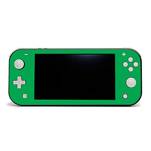 MIGHTY SKINS MightySkins Skin Compatible with Nintendo Switch Lite - Solid Green | Protective, Durable, and Unique Vinyl Decal Wrap Cover | Easy to Apply, Remove, and Change Styles | Made in The USA
