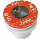 Bussman BP/S-20 20 Amp 125Vac Dual- Element Time-Delay Plug Fuse 2 Count
