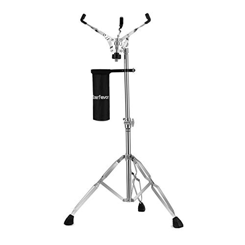 """Concert Snare Drum Stand with Drum Sticks Holder, Starfavor Double Braced Adjustable Extended Height 25""""-40"""" Practice Pad Stand for 10-16 Inches Drum Pad, Snare Drum"""