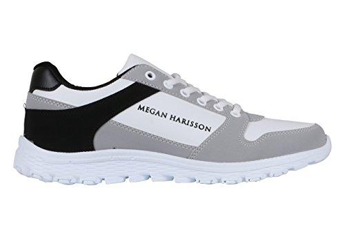 Megan Harisson - Zapatillas de Lona para hombre blanco Weiß 40
