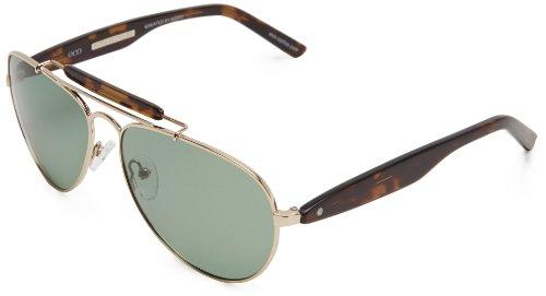 eco Austin Aviator Sunglasses, Gold, 59 mm