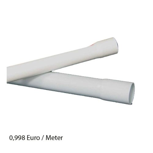 60m M40 40mm Kopos Elektrorohr Stangenrohr Leerrohr Elektrokabel-Rohr gemufft hellgrau PVC NEU