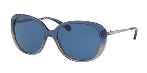 COACH Women's 0HC8215 Denim Taupe Glitter Gradient/Dark Blue Solid - Blue Gradient Dark