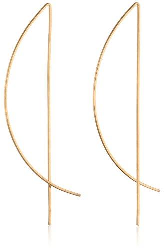 by boe 14K Gold Filled Half Moon Threader Earrings