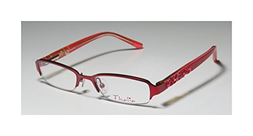 Thalia Brillante ChildrensKidsGirls Designer Half-rim EyeglassesGlasses (46-17-125 Red  Pink)