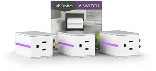 3 Pack iDevices Switch - Wi-Fi Enabled Plug w/Energy Monitoring, No Hub Required, Works with Apple HomeKit, Android and Amazon Alexa