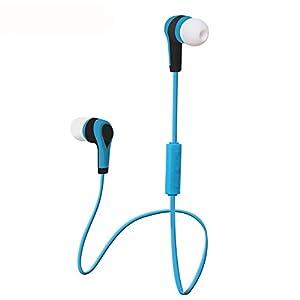 Aobiny Earphone Bluetooth Wireless In-Ear Stereo Headphones Waterproof Sports Headphones (Blue)