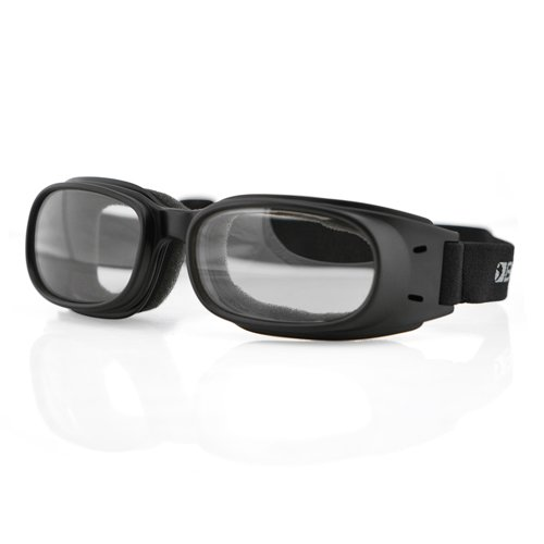 Bobster BPIS01C Piston Goggles, Black/Clear ()